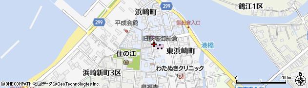 山口県萩市浜崎町(浜崎2区)周辺の地図