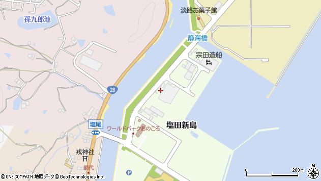 〒656-2142 兵庫県淡路市塩田新島の地図