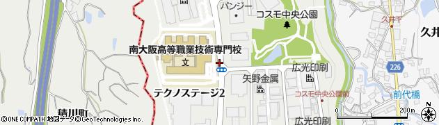 大阪府和泉市テクノステージ周辺の地図