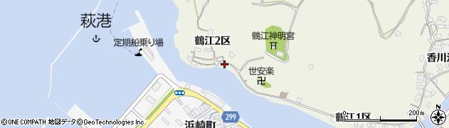 山口県萩市椿東(鶴江2区)周辺の地図