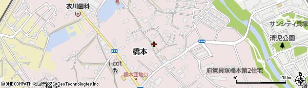 大阪府貝塚市橋本周辺の地図