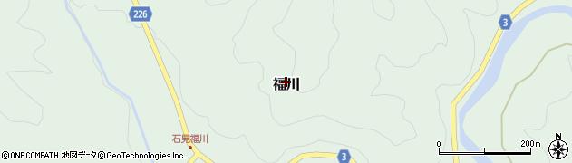 島根県吉賀町(鹿足郡)柿木村福川周辺の地図