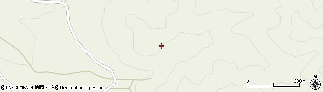 山口県萩市吉部上(佐波木)周辺の地図
