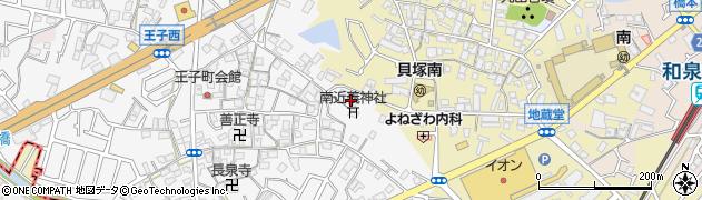 南近義神社周辺の地図