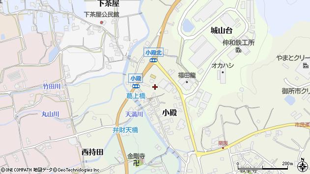 〒639-2257 奈良県御所市小殿の地図