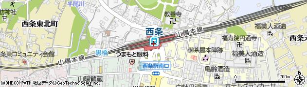 広島県東広島市周辺の地図