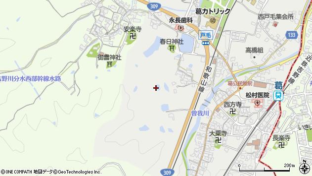 〒639-2251 奈良県御所市戸毛の地図