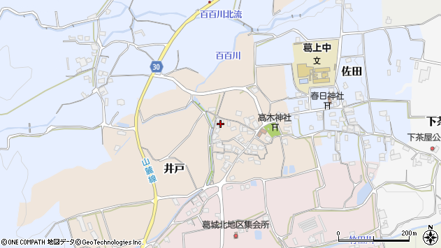 〒639-2326 奈良県御所市井戸の地図