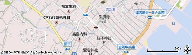 兵庫県淡路市志筑周辺の地図