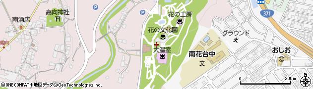 大阪府立花の文化園周辺の地図