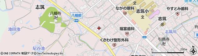 兵庫県淡路市志筑連上周辺の地図