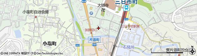大阪府河内長野市三日市町周辺の地図