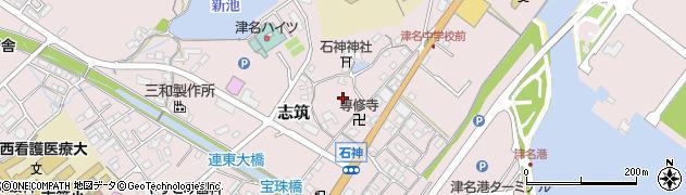 兵庫県淡路市志筑石神周辺の地図