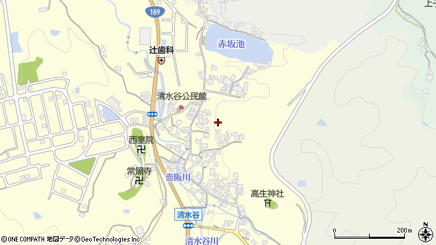 〒635-0103 奈良県高市郡高取町清水谷の地図