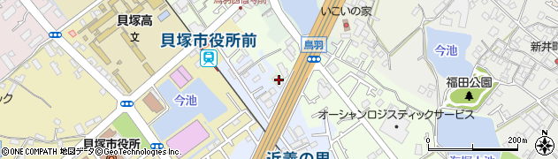 大阪府貝塚市脇濱周辺の地図