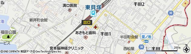 道教寺周辺の地図