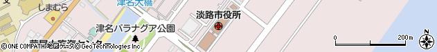 兵庫県淡路市周辺の地図