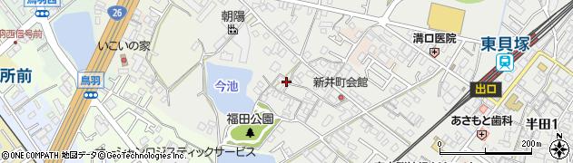 大阪府貝塚市新井周辺の地図