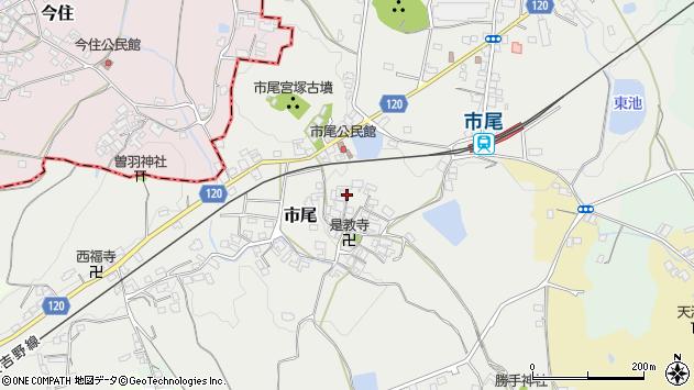 〒635-0123 奈良県高市郡高取町市尾の地図