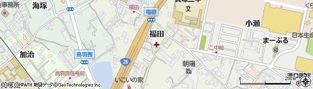 大阪府貝塚市福田周辺の地図