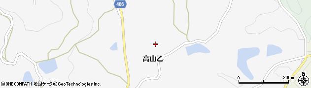 兵庫県淡路市高山周辺の地図