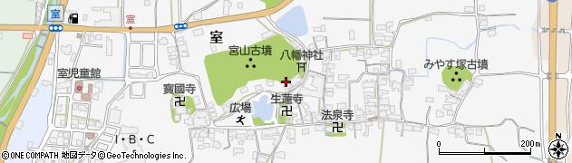 奈良県御所市室周辺の地図