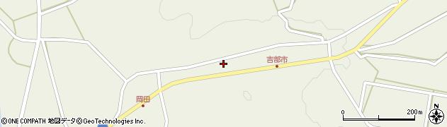 山口県萩市吉部上(市下)周辺の地図