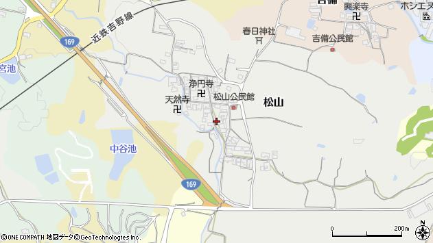〒635-0111 奈良県高市郡高取町松山の地図