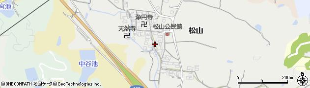 奈良県高市郡高取町松山周辺の地図