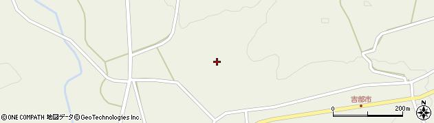 山口県萩市吉部上(岡田)周辺の地図
