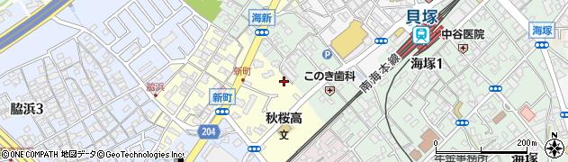大阪府貝塚市新町周辺の地図