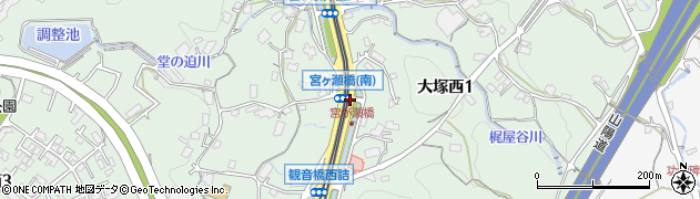 農免道路東周辺の地図