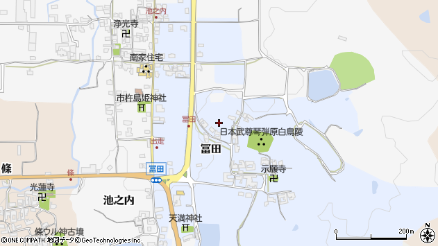 〒639-2274 奈良県御所市冨田の地図
