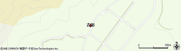 山口県萩市黒川(吉田)周辺の地図