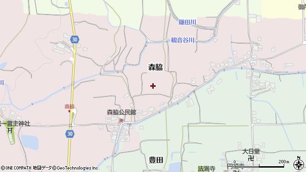 〒639-2318 奈良県御所市森脇の地図