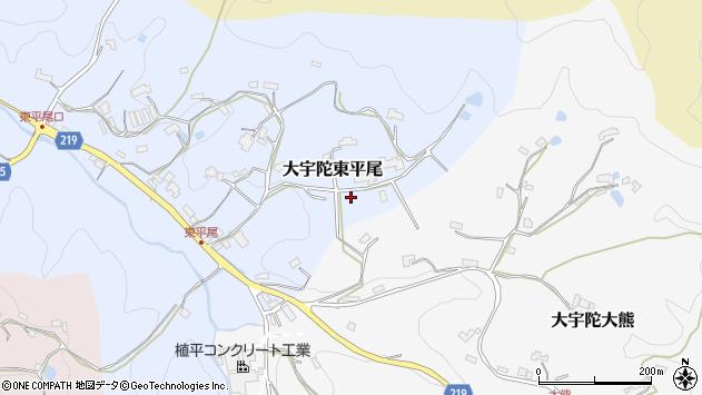 〒633-2135 奈良県宇陀市大宇陀東平尾の地図