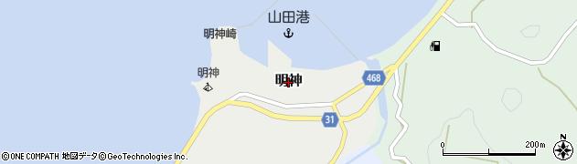 兵庫県淡路市明神周辺の地図