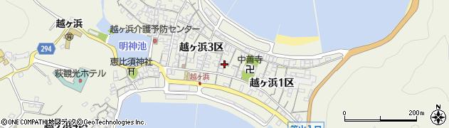 山口県萩市椿東(越ヶ浜2区)周辺の地図