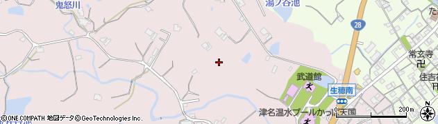 兵庫県淡路市大谷周辺の地図