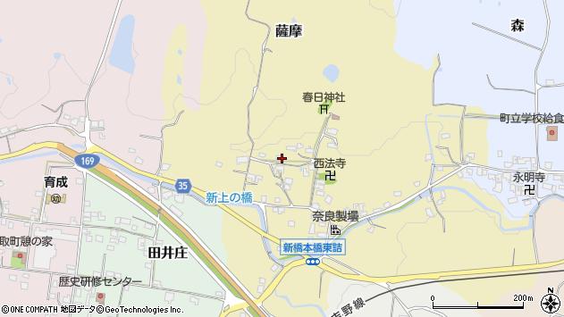 〒635-0134 奈良県高市郡高取町薩摩の地図