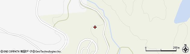 山口県萩市吉部上(毛木)周辺の地図