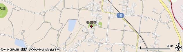 楽音寺周辺の地図