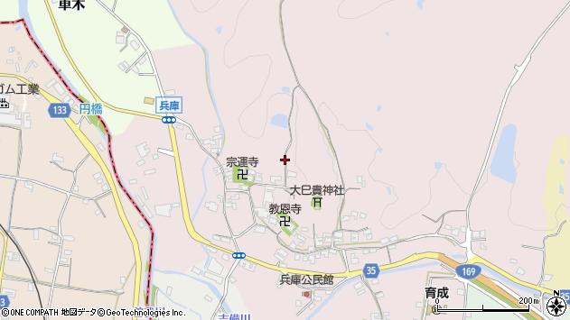 〒635-0136 奈良県高市郡高取町兵庫の地図