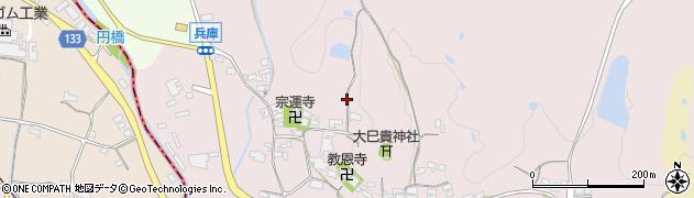 奈良県高市郡高取町兵庫周辺の地図