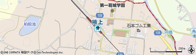 奈良県御所市周辺の地図