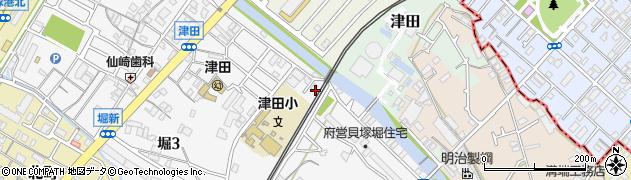 大阪府貝塚市津田南町2周辺の地図