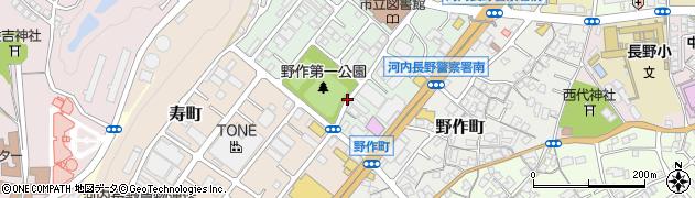 大阪府河内長野市昭栄町周辺の地図