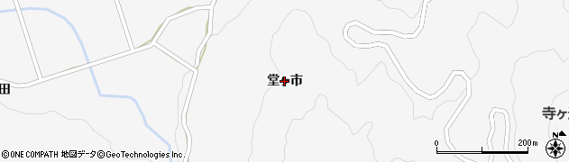 山口県萩市紫福(堂ヶ市)周辺の地図