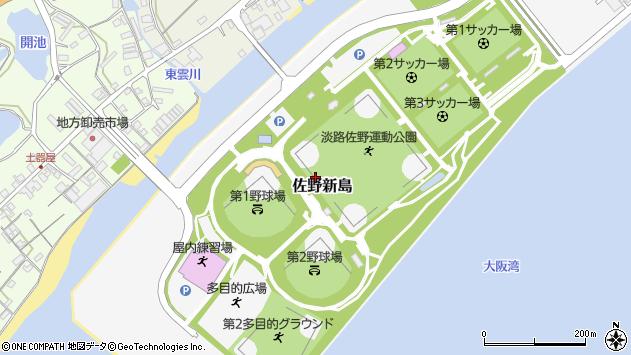 〒656-2213 兵庫県淡路市佐野新島の地図
