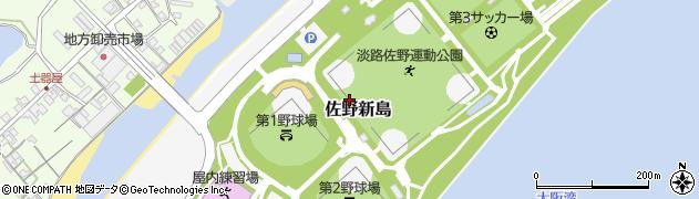 兵庫県淡路市佐野新島周辺の地図